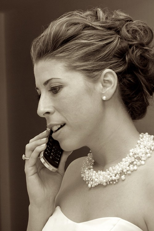 bride on phone bigger