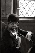 violinist during wedding ceremony