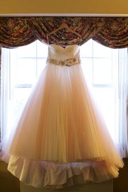 wedding bride's gown
