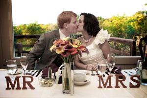 wedding bride groom mr & mrs