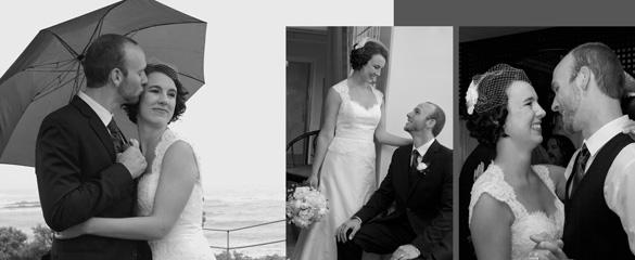 wedding bride groom birdcage veil