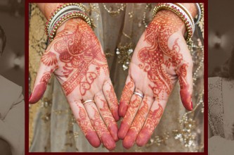 Indian wedding henna tattoos